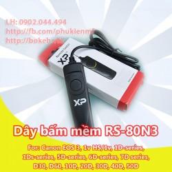 Dây bấm mềm RS-80N3 for Canon EOS 1D, 1Ds, 5D, 6D, 7D, 10D – 50D