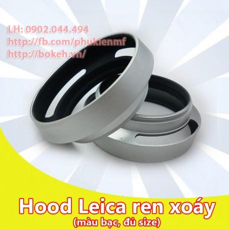 Hood Leica màu bạc phi 55mm