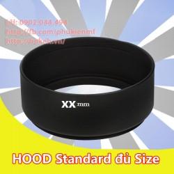 Hood nhôm ren xoáy Standard phi 58mm