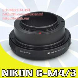 Nikon F/AI/AIS/AIG - M4/3 (AIG-M4/3)