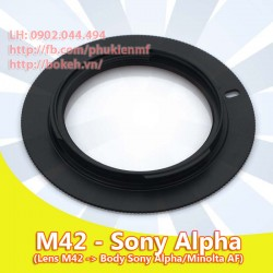 M42 - Sony A mount (M42-AF)