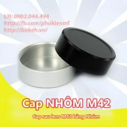 Cap sau lens M42 Nhôm