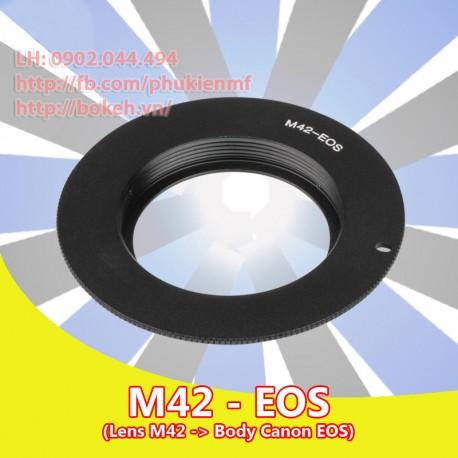 M42 - Canon EOS - màu đen, không chip (M42-EOS-B)