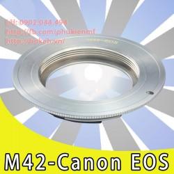 M42 - Canon EOS - Màu chrome, ko chip ( M42-EOS-W )