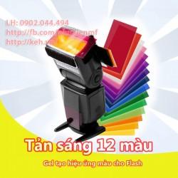 Tản sáng tạo hiệu ứng 12 màu đèn flash