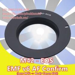 M42 - Canon EOS - Màu đen, EMF v6 ( M42-EOS-B6 )