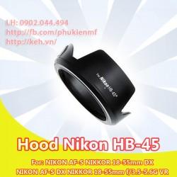 Hood Nikon HB-45 (hoa sen)