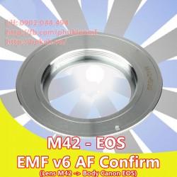 M42 - Canon EOS - Màu Chrome, EMF v6 ( M42-EOS-W6 )