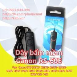 Dây bấm mềm RS-60E3 for Canon EOS 700D 650D 600D 550D100D 60D 70D