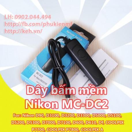 Dây bấm mềm MC-DC2 for Nikon D90 D5100 D3200 D7000 3100 D600