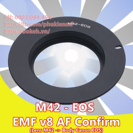 M42 - Canon EOS - Màu đen, EMF v8 (M42-EOS-B8)