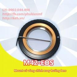 Mount M42-EOS có chỉnh xoay lens