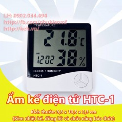 Ẩm kế điện tử đa năng HTC-1 (kèm nhiệt kế, đồng hồ điện tử)