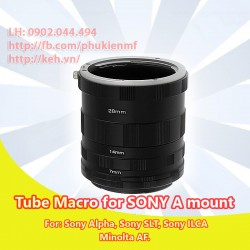 Tube macro cho Sony Alpha/Minolta AF (non AF)