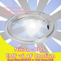 Nikon F/AI/AIS - Canon EOS - EMF v6 ( AI-EOS-6 )