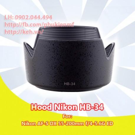 Hood HB-34 for Nikon AF-S DX 55-200mm f/4-5.6G ED