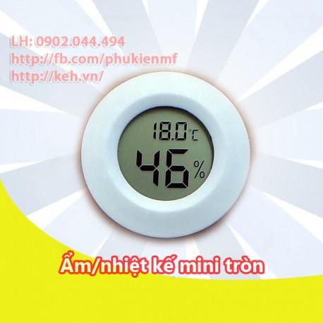 Ẩm kế điện tử Mini tròn (kèm nhiệt kế điện tử)