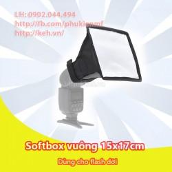 Tản sáng softbox vuông kích thước 15x17cm