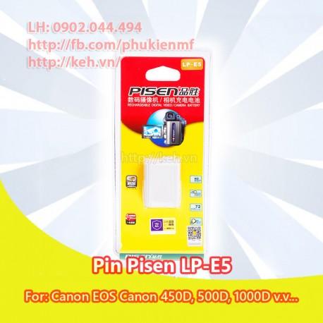 Pin Pisen LP-E5 for Canon EOS 450D, 1000D, 500D