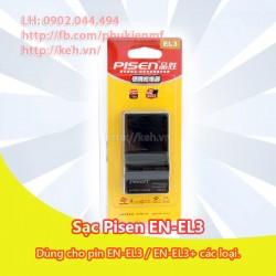 Sạc Pisen EN-EL3+ for Nikon D50, D70, D70S, D80, D90, D100, D200, D300, D300S, D700
