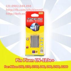 Pin Pisen EN-EL3e+ for Nikon D50, D70, D70S, D80, D90, D100, D200, D300, D300S, D700