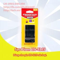 Sạc Pisen EL15 For Nikon D7000, D7100, D600, D800, D800E, V1