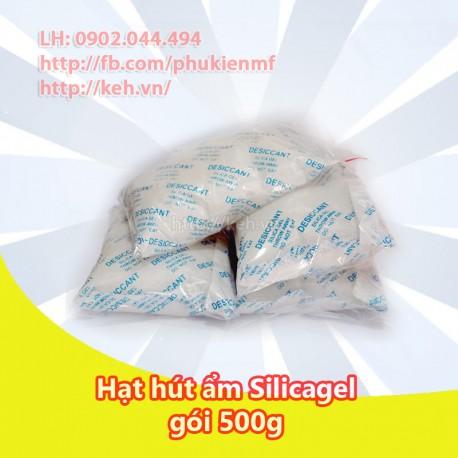 Hạt hút ẩm Silicagel không màu gói 500g