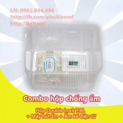 Combo Hộp chống ẩm + Ẩm kế + Máy hút ẩm