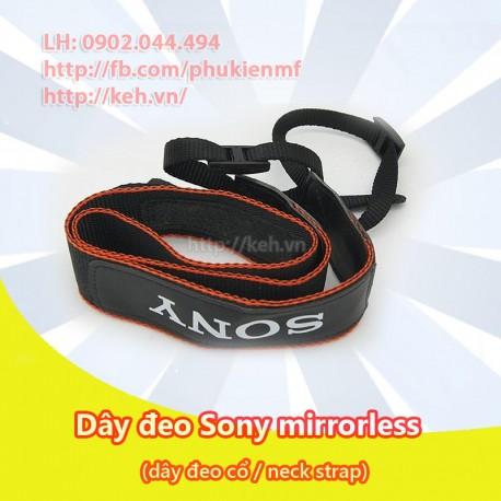 Dây máy ảnh Sony đeo cổ (neck strap) bản nhỏ cho Mirrorless