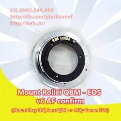 Mount Rollei QBM-EOS v6 AF confirm (loại thay thế)