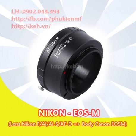 Mount Nikon F/Ai/Ai-S/AF-D - Canon EOS-M (AI-EOSM)