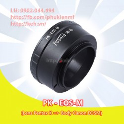 Mount Pentax K - Canon EOS-M (PK-EOSM)