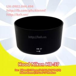 Hood HB-37 for NIKON AF-S 85f3.5G 55-200f4-5.6G