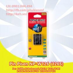 Pin Pisen NP-W126 / NP-W126S 7.2V 1050mah for Fujifilm X-Pro1, X-E1, X-A1, X-T1…