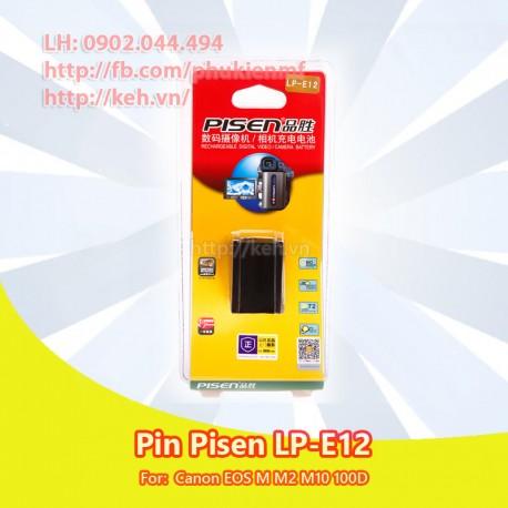 Pin Pisen LP-E12 7.2V 850mah for Canon EOS M M1 M10