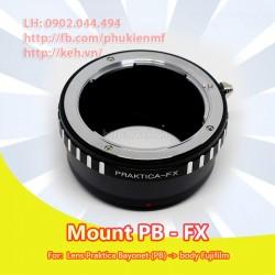 Mount Praktica Bayonet (PB) - Fujifilm X (PB-FX)