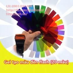 Gel tản sáng tạo màu cho đèn flash 20 màu