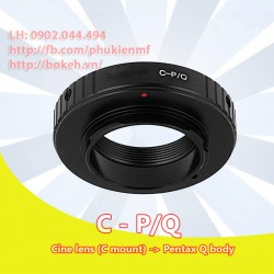 Cine C mount - Pentax Q (C-PQ)