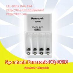 Bộ sạc nhanh pin AA/AAA Panasonic Eneloop BQ-CC16 smart and quick charger