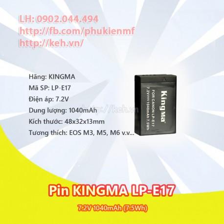 Pin KINGMA LP-E17 1040mah for Canon EOS M3, M5, M6, 750D