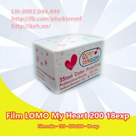 Film LOMO My Heart 200 - màu 135 - INDATE