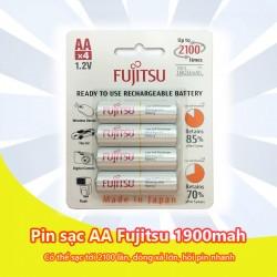 Pin sạc Fujitsu AA 1900mAh 2100 lần sạc Made in JP (vỉ 4 viên)