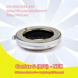 Mount Contax G - Sony E mount ( CG-NEX, C/G-NEX )