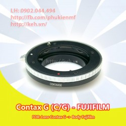 Mount Contax G - Fujifilm X ( CG-FX, C/G-FX )